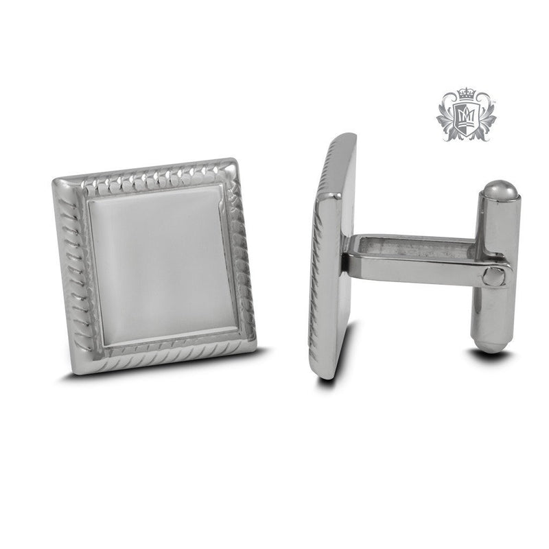 Stainless Steel Square Edged Cufflinks - Metalsmiths Sterling™ Canada