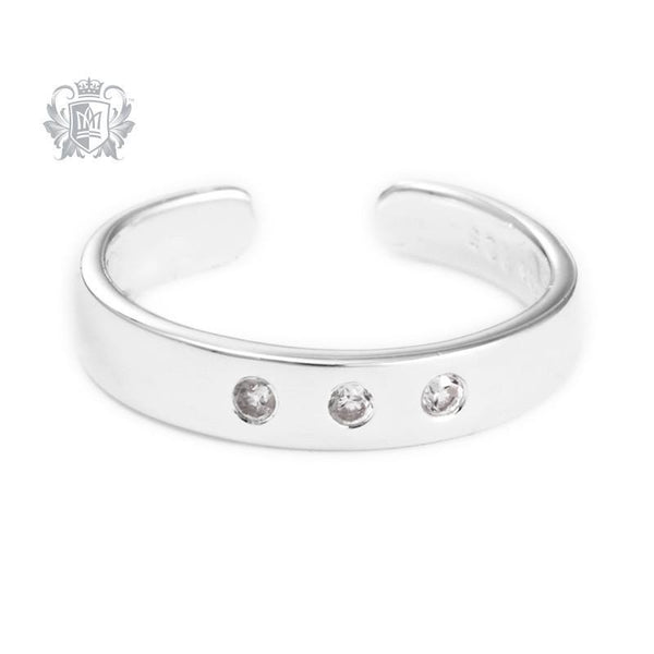 Triple Cubic Toe Ring - Metalsmiths Sterling䋢 Canada