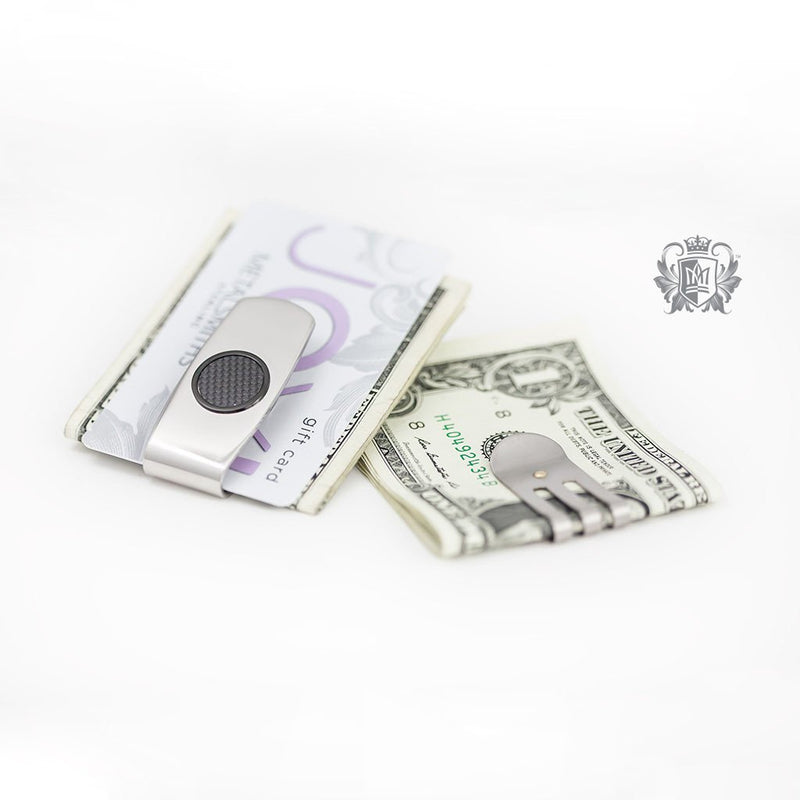 Stainless Steel Money Clip with Carbon Fibre Accent - Metalsmiths Sterling™ Canada