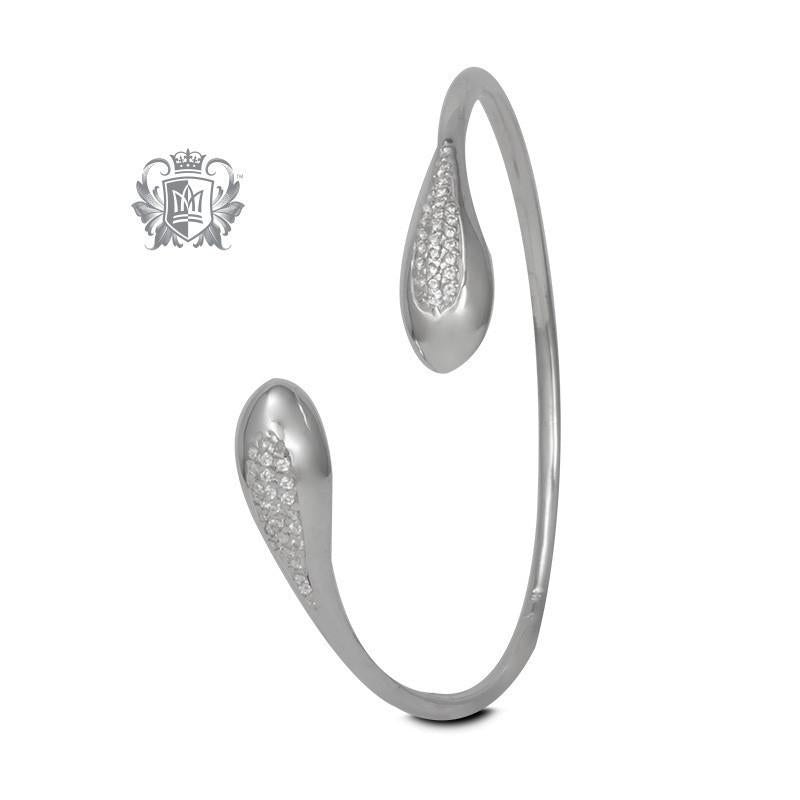 PavŽ Drop Bypass Bangle - Metalsmiths Sterling'Ñ¢ Canada