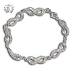 Eternal Loop Cubic Station Bracelet - Metalsmiths Sterling™ Canada