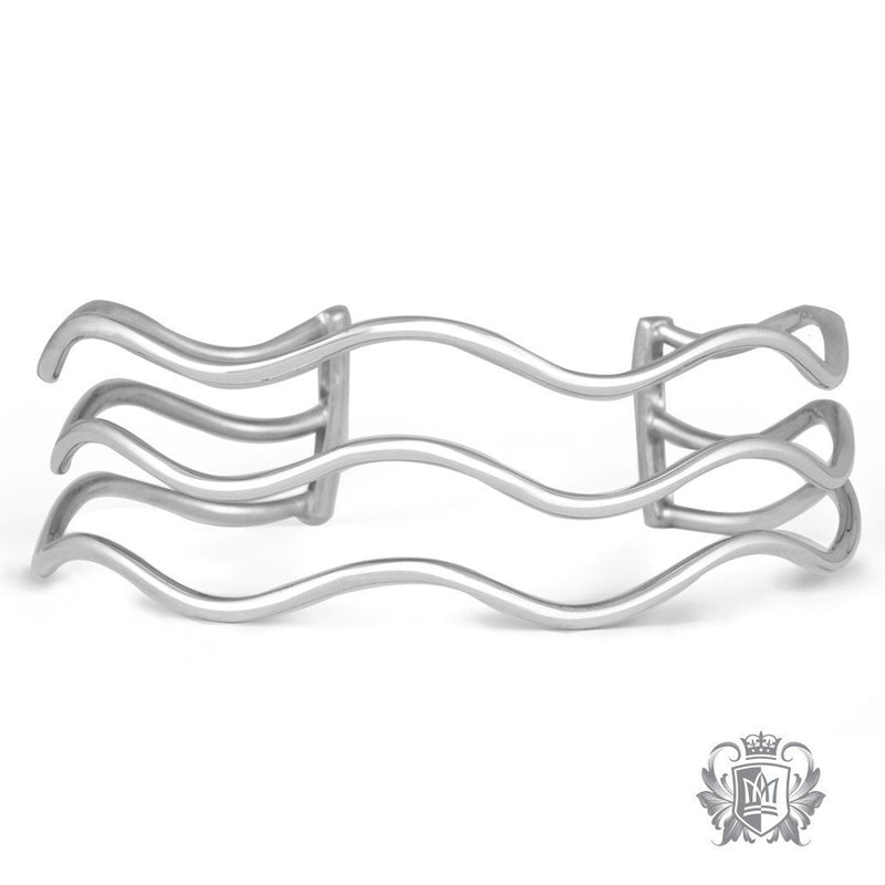 Triple Wave Cuff Bangle - Metalsmiths Sterling™ Canada
