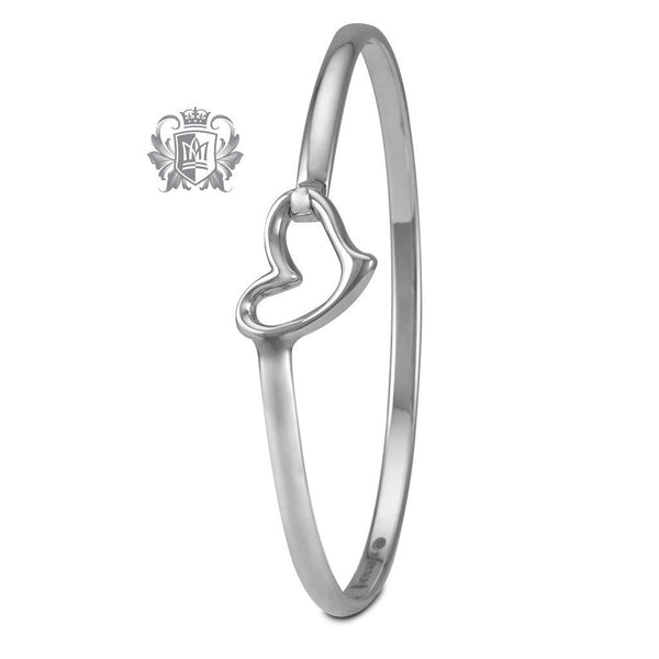 Wave Heart Hook Bangle - Metalsmiths Sterling'Ñ¢ Canada