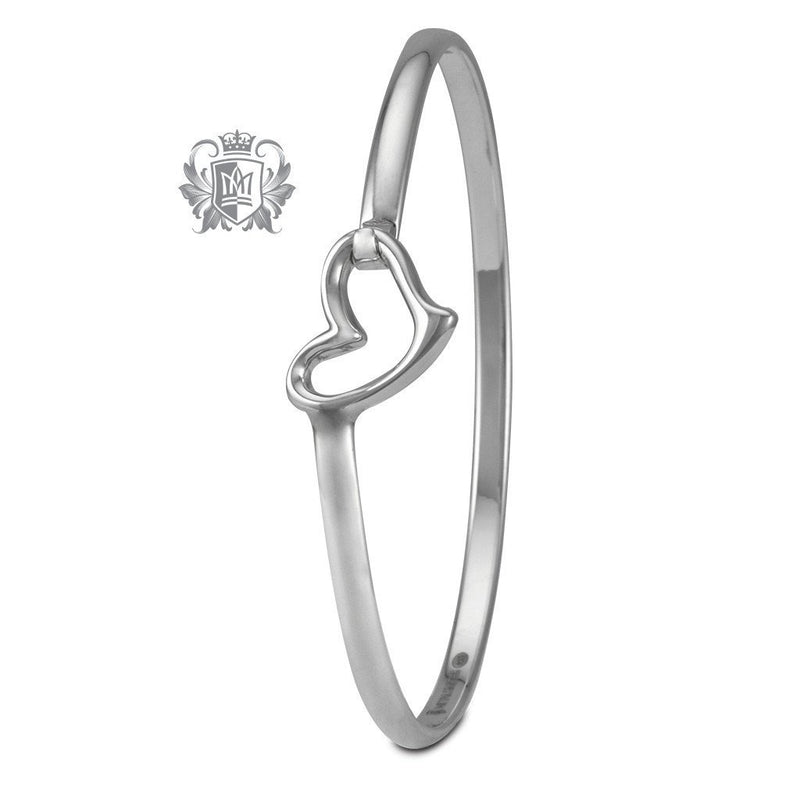 Wave Heart Hook Bangle - Metalsmiths Sterling™ Canada