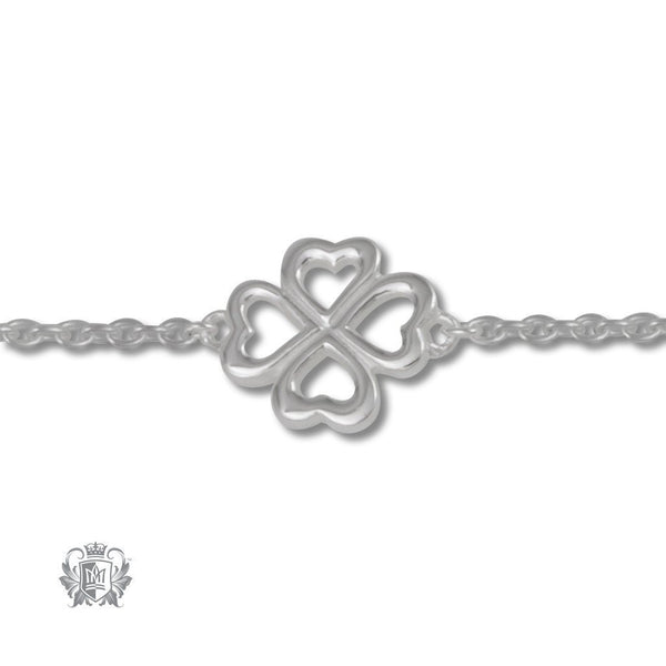 Four Leaf Clover Anklet - Metalsmiths Sterling'Ñ¢ Canada