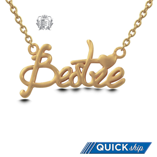 Gold Dipped Bestie Pendant