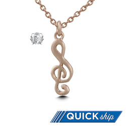 Gold Dipped Treble Clef Pendant