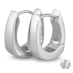 Metalsmiths Sterling Silver Tapered Hoop Earrings - front