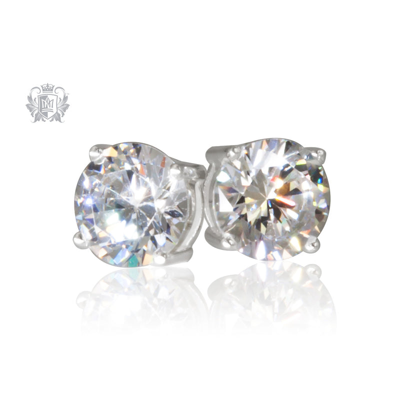 Large Prong Set Cubic Studs