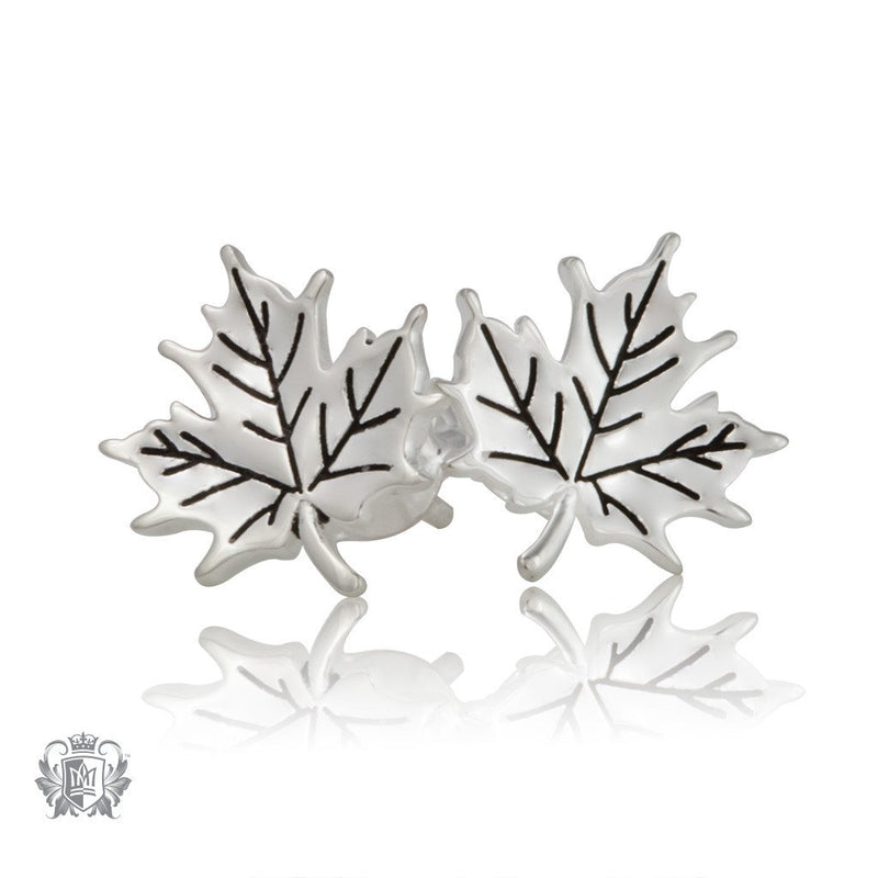 Metalsmiths Sterling Silver Metalsmiths Sterling Silver Natural Maple Leaf Earrings