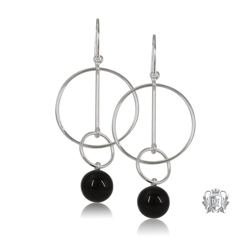 Metalsmiths Sterling Silver Black Onyx Balance Earrings