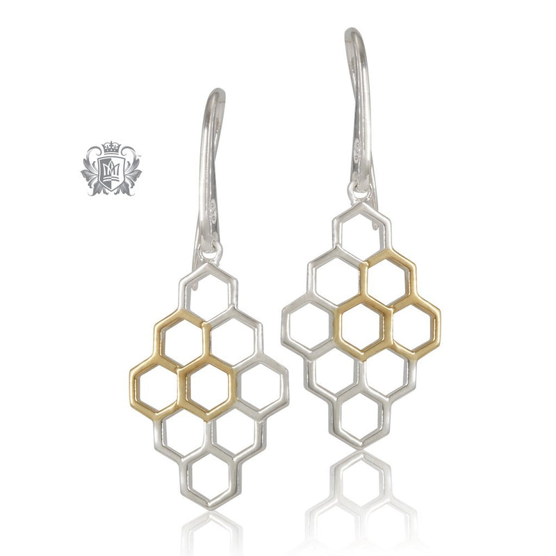 Metalsmiths Sterling Silver Gold Dipped Honeycomb Earrings