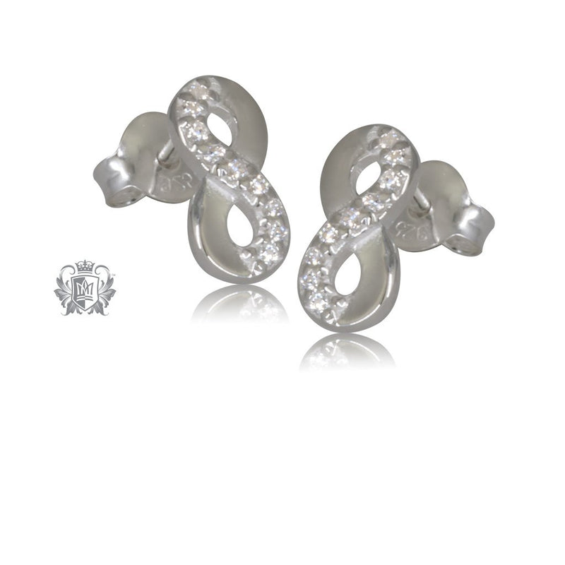 Cubic Eternity Stud Earrings Metalsmiths Sterling Silver