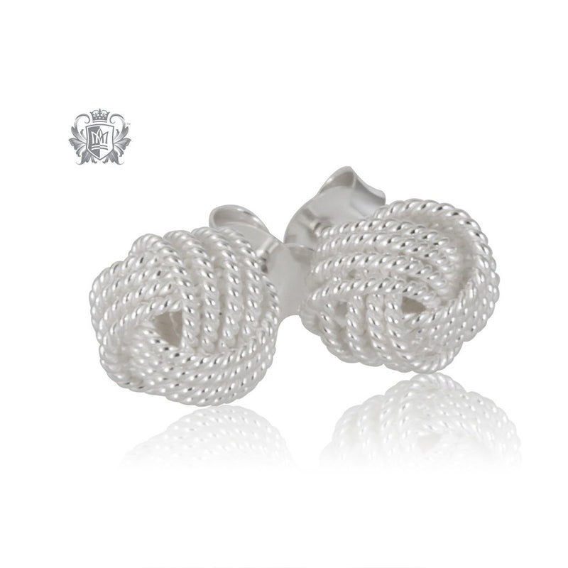 Twisted Wire Knot Studs Metalsmiths Sterling Silver