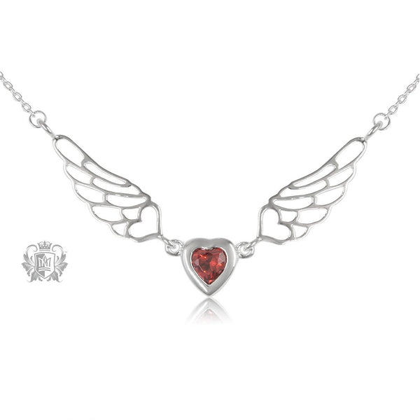Red Cubic Angel Heart Wings - Metalsmiths Sterling'Ñ¢ Canada