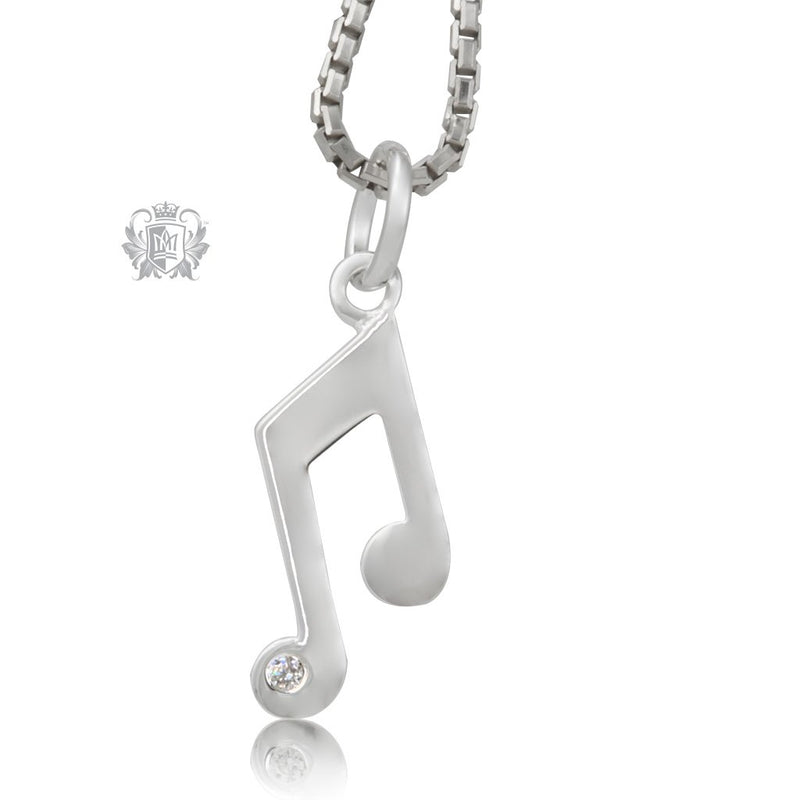 Double Music Note Pendant