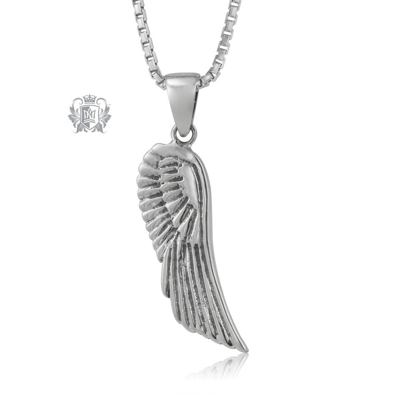 Antique Angel Wing Pendant Metalsmiths Sterling Silver