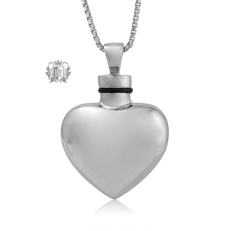 Heart Shaped Memorial Pendant Sterling Silver Brass