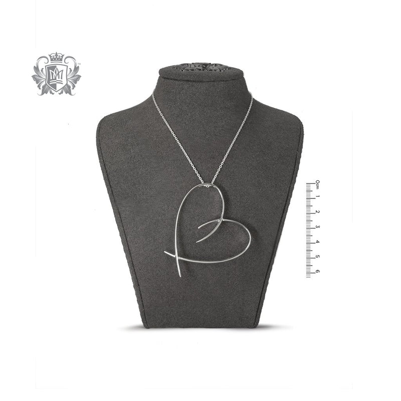 Extra Large Freeform Heart Slider - bust
