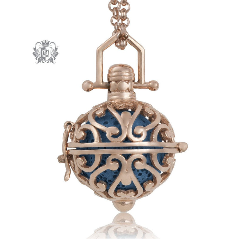 Perfect Scent Venetian Aromatherapy Locket Rose/Blue