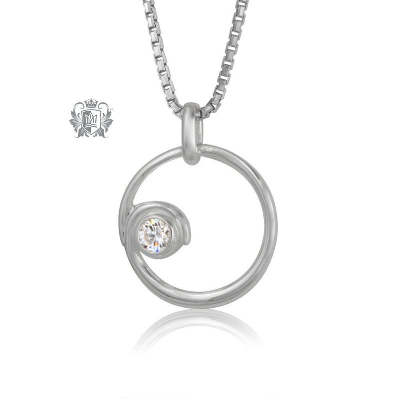 Circled Sparkle Cubic Pendant
