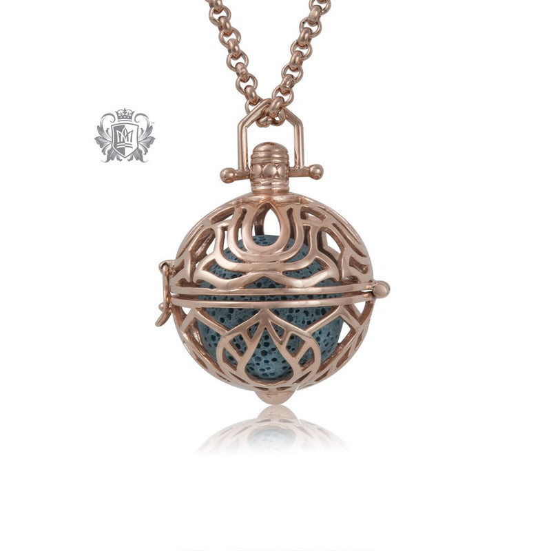 Rose Finish Perfect Scent Contemplation Lotus Aromatherapy Locket (Large)
