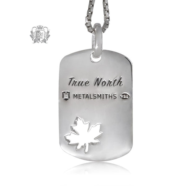 True North Maple Leaf Pendant Metalsmiths Sterling Silver Back