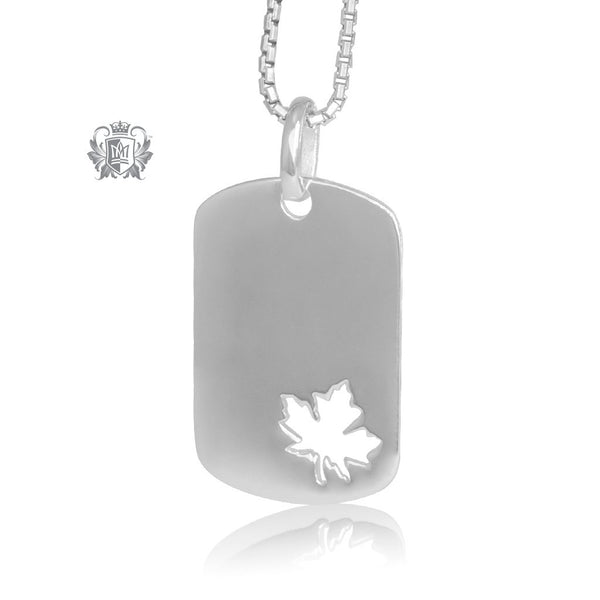 True North Maple Leaf Pendant Metalsmiths Sterling Silver Front
