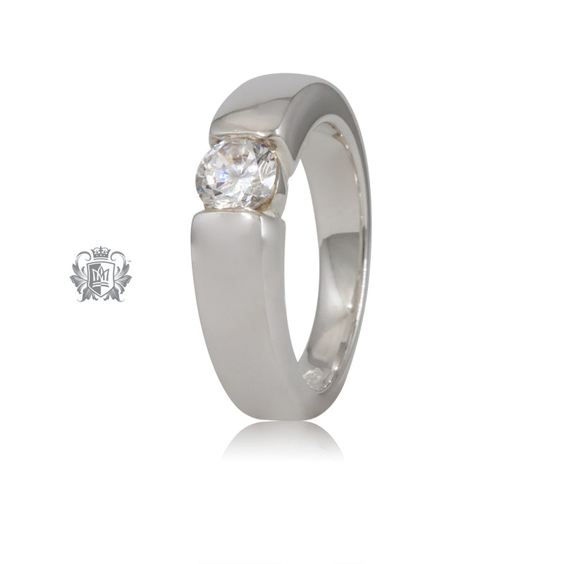 Round Channel Set Ring