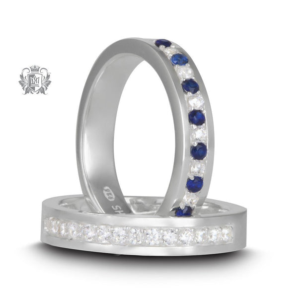 Square Edged Eternity Bands - both colours