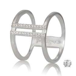 Metalsmiths Sterling Double Bar Sparkle Band