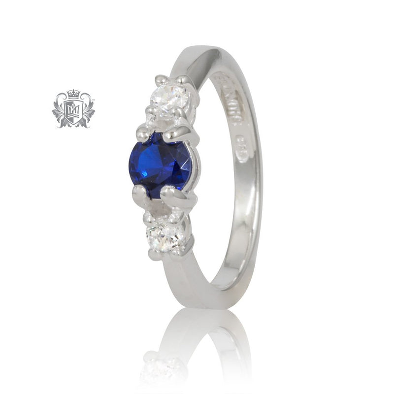 Trinity Sapphire Cubic Ring Metalsmiths Sterling Silver