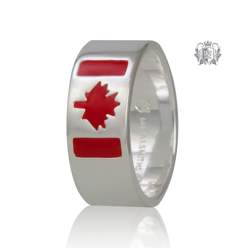 Canadian Flag Ring (His) - Metalsmiths Sterling‰̣ۡå¢ Canada