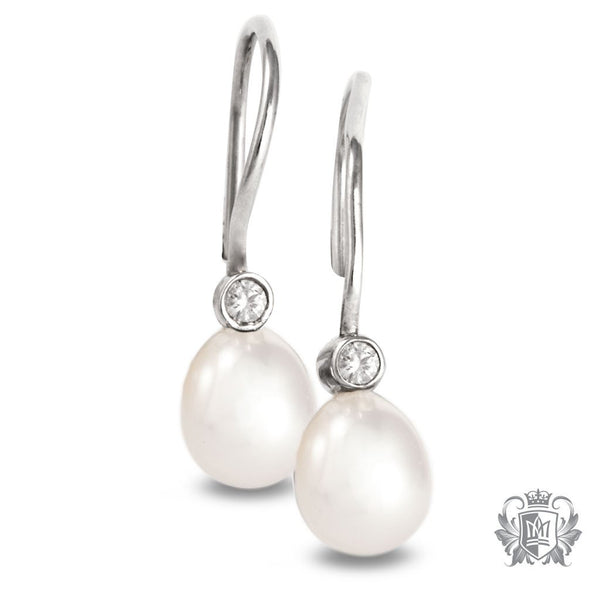 Metalsmiths Sterling Silver Fresh Water Pearl Hangers - White