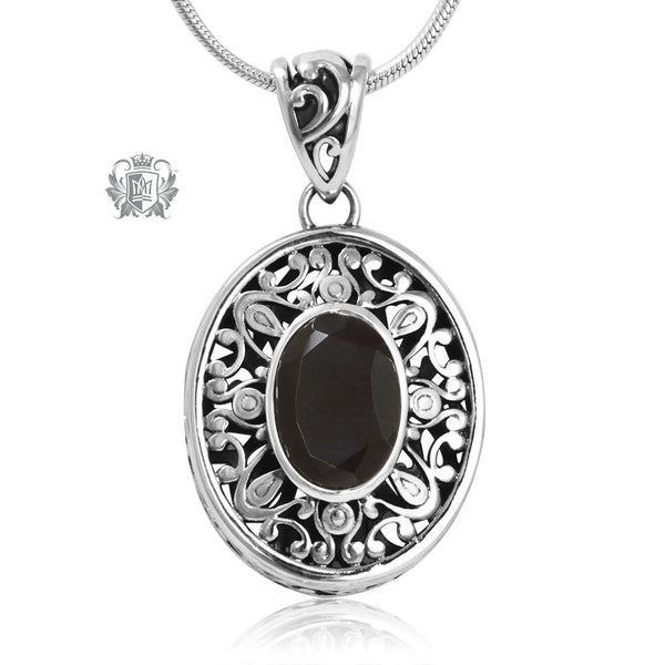 Oval Gemstone Pendant Metalsmiths Sterling Silver