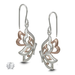 Rose Gold Sterling Silver Butterfly Earrings
