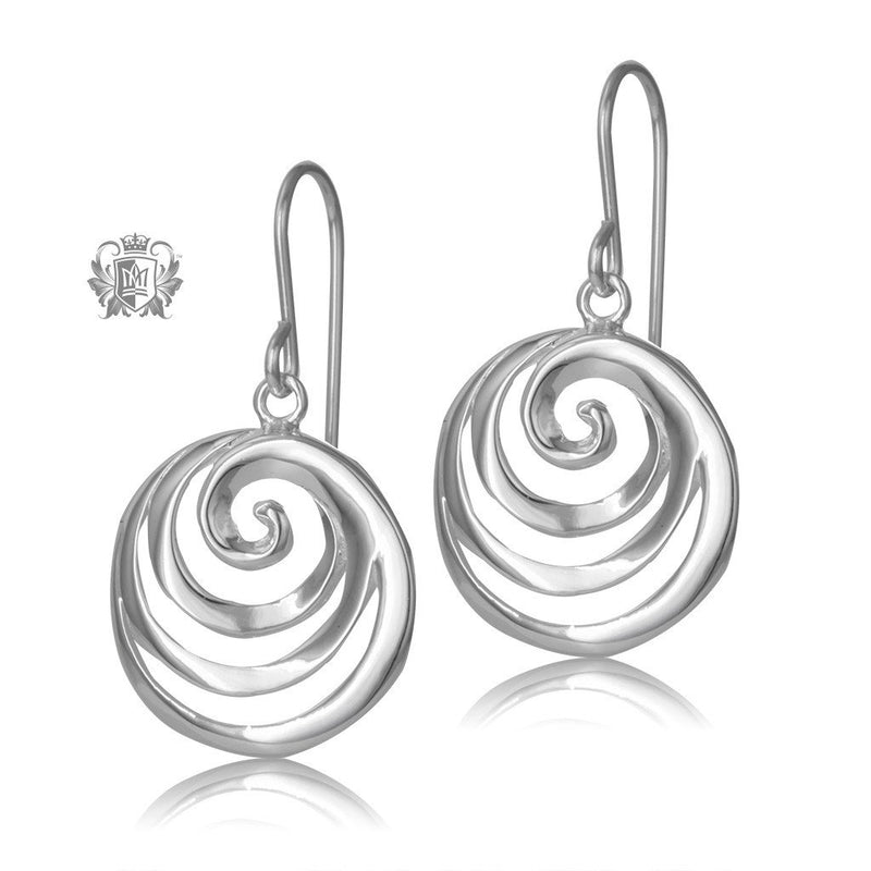 Metalsmiths Sterling Silver Simple Swirl Hanger Earrings