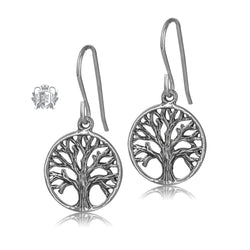 Metalsmiths Sterling Silver Tree of Life Hanger Earrings