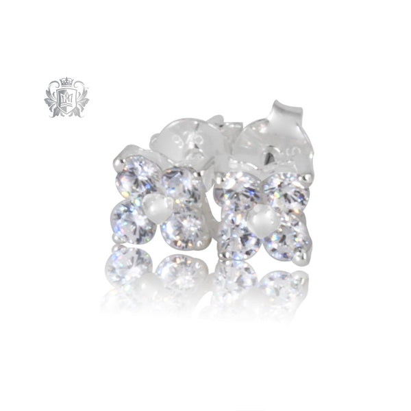 Small Cubic Cluster Stud Earrings