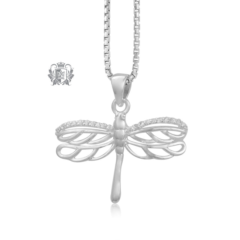 Dazzling Dragonfly Pendant