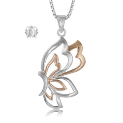 Metalsmiths Sterling Silver Fluttering Butterfly Pendant
