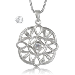 Metalsmiths Sterling Silver Large Loopy Celtic Knot Sparkling Pendant