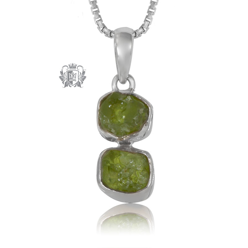 Rough Peridot Necklace