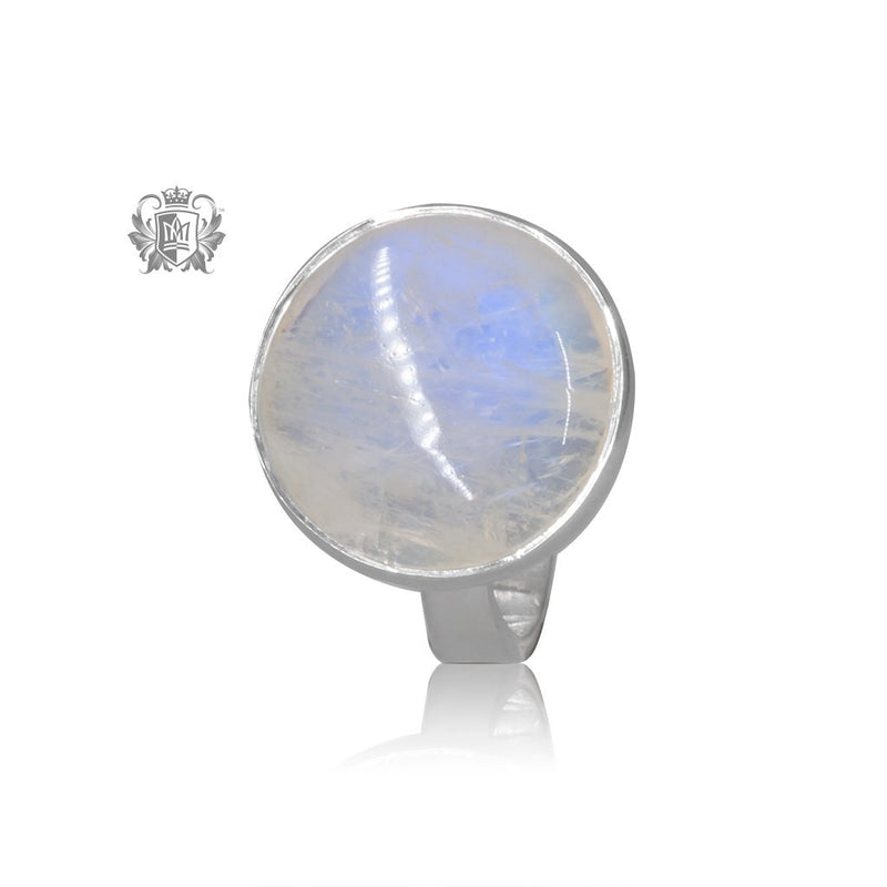 Round Moonstone Ring Metalsmiths Sterling Silver One of a Kind