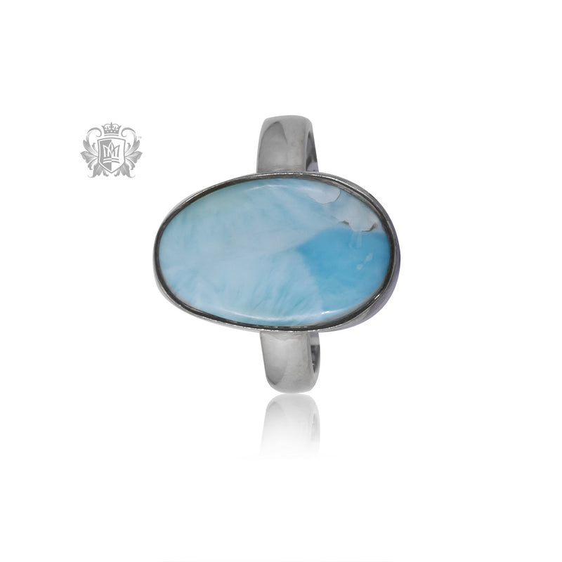 Small Freeform Larimar Ring