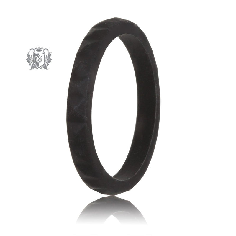 Black Stacking Silicone Active Band Metalsmiths Sterling