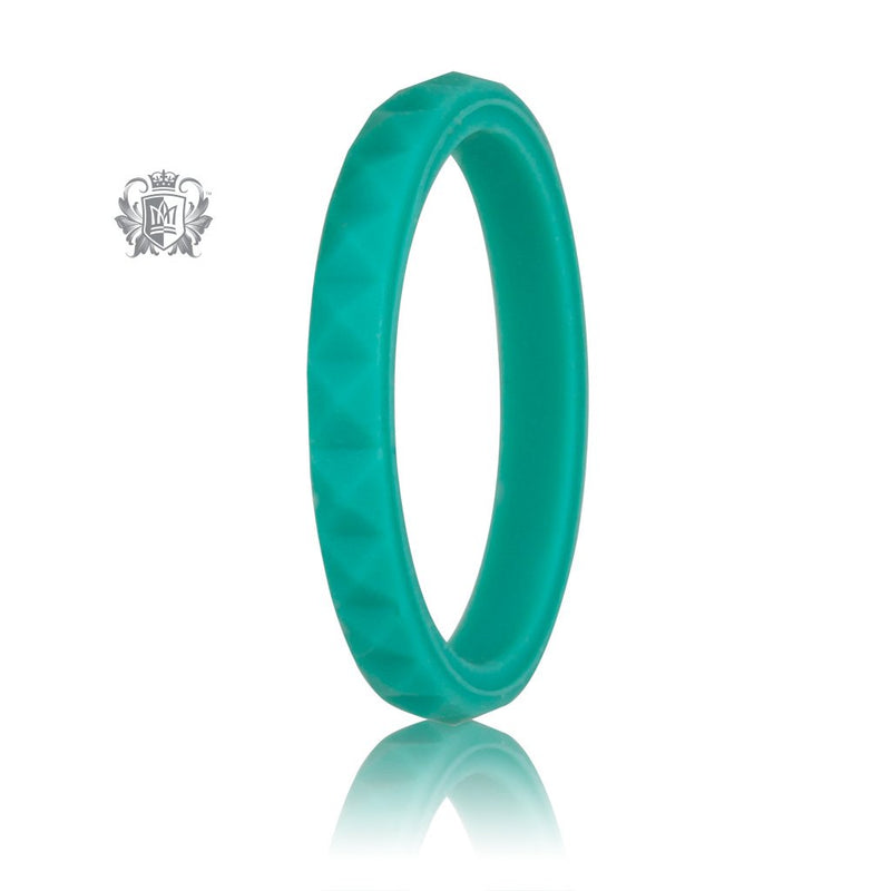 Turquoise Stacking Silicone Active Band Metalsmiths Sterling