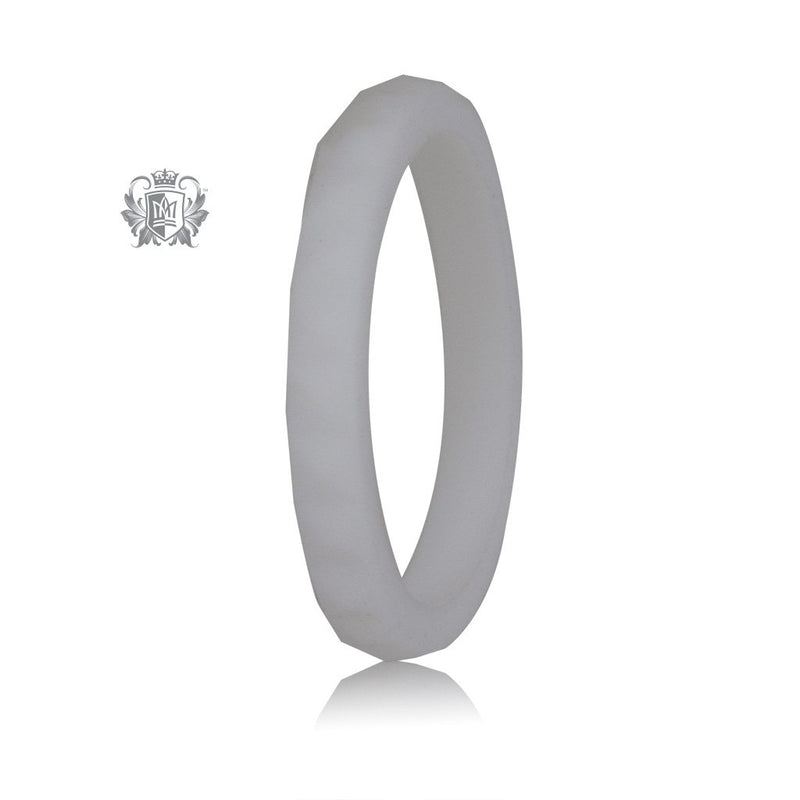 White Stacking Silicone Active Band Metalsmiths Sterling