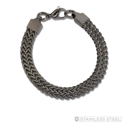 Stainless Steel Double Foxtail Bracelet