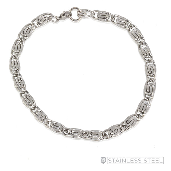 Serpentine Stainless Steel Bracelet